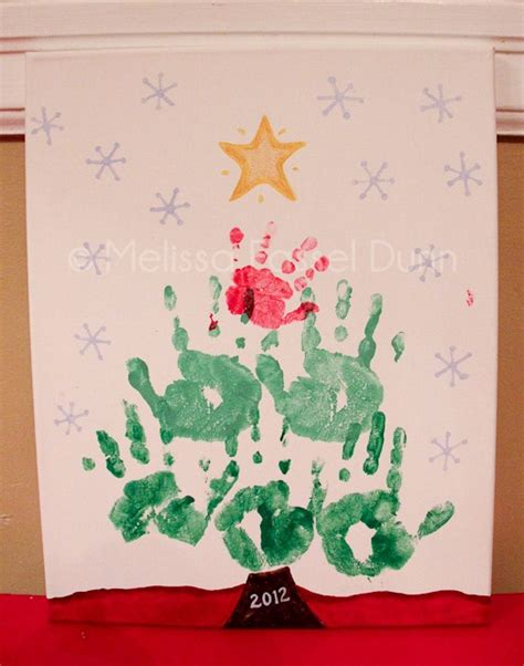 hand print christmas tree kids craft melissa fassel dunn