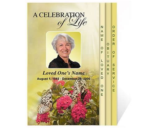 Free Funeral Program Templates New Funeral Program Templates Are Now Available At The Free Celebration Of Program Template
