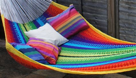 mexican style cotton string hammock large size holds 1 3