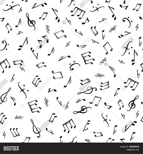 music notes pattern background music notes elements seamless vector photo bigstock
