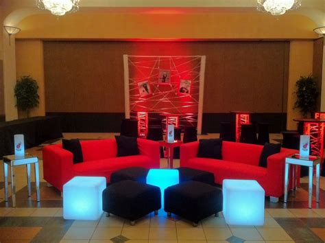 red themed events miami heat basketball theme bar mitzvah event decor red
