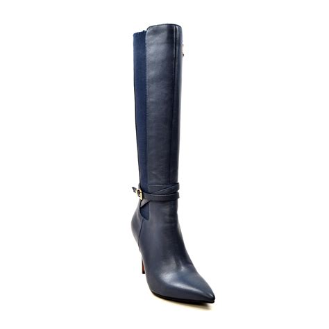 solemani s noosh navy leather narrow calf nooshnavy