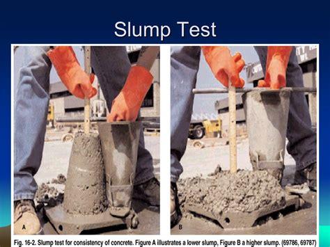 Slump Test properties of plastic concrete ppt