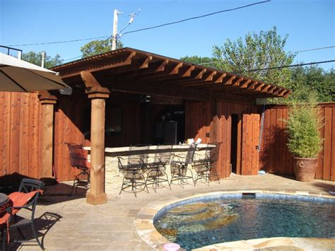 Backyard Cabana Bar Ideas by Pool Renovation With New Tub Pit And Cabana Bar