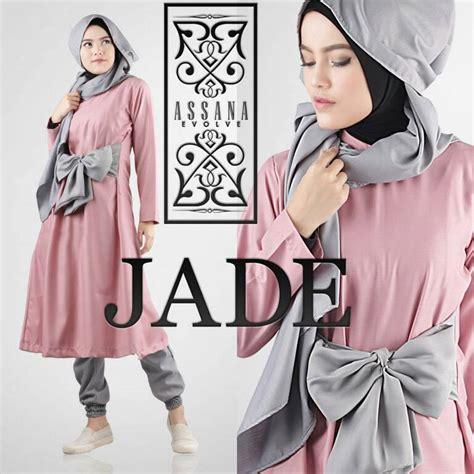 Preloved Celana Katun Orange Fit To L Pinggang Karet jade pink baju muslim gamis modern