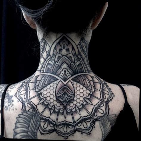 mandala neck tattoo 63 attractive mandala neck tattoos
