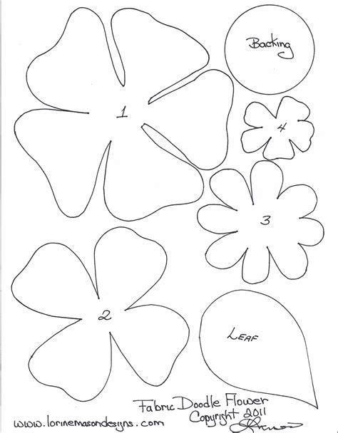 Flower Paper Craft Template - free printable paper flower templates scissors paper and