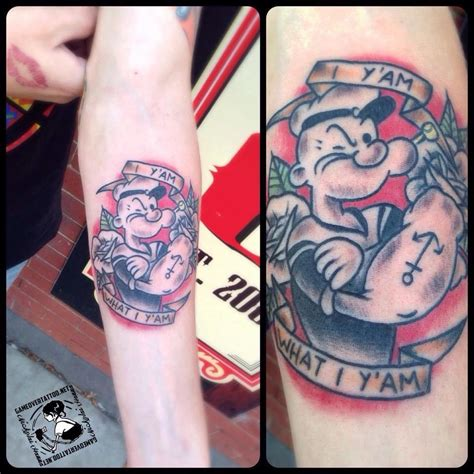 nickolaihanna classic popeye tattoo traditional tattoos