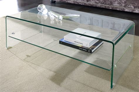 Table de salon en verre tremp CLARITY
