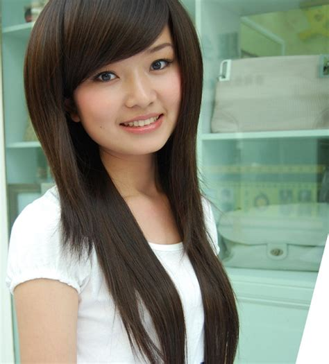 hairstyle for round face chinese long hairstyles for asian girls with round faces photos