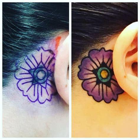 tattoo cover up ideas behind ear flower behind ear tattoo best tattoo ideas gallery