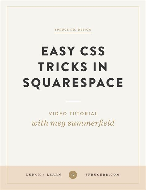 css tutorial easy easy css tricks in squarespace spruce rd