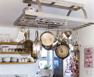 Kitchen Island Pot Rack You Will Always Find Them In The Kitchen At Parties How