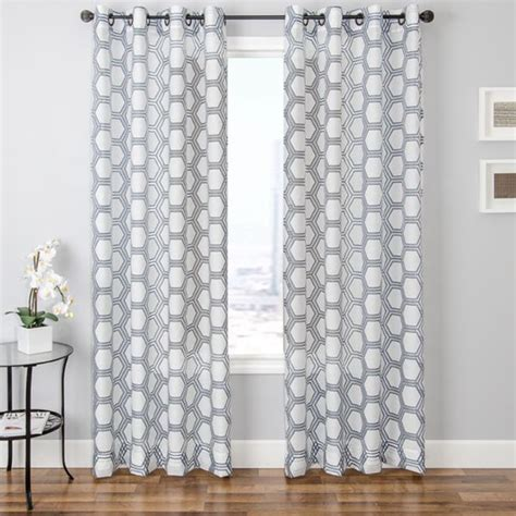 living room panel curtains softline burnout sheer geometric curtain panel 96 inch