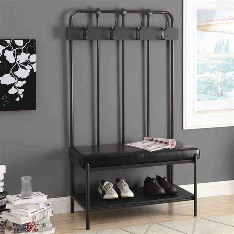 entryway bench with hooks entryway storage bench with hooks home furniture design