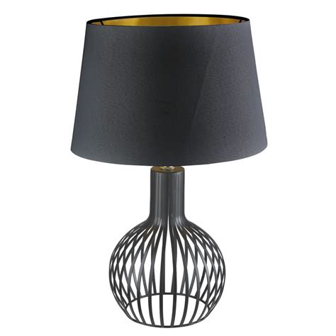 black cage table l cage black table l with black shade gold inner modish