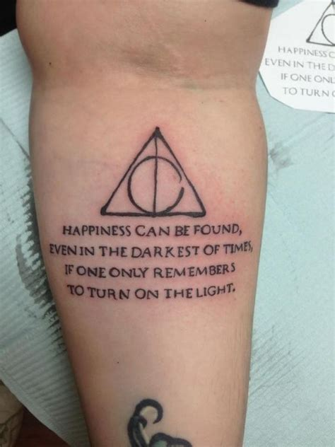 tattoo quotes that aren t cheesy my harry potter tattoo beautiful technique on the