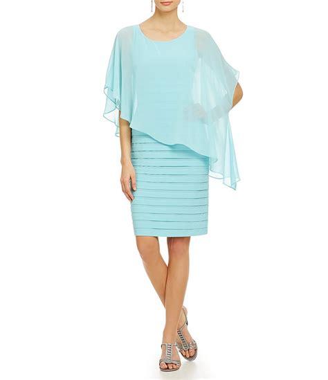 papell chiffon overlay dress dillards