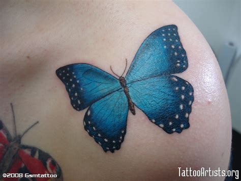 blue butterfly tattoo butterfly tattoos and designs page 531