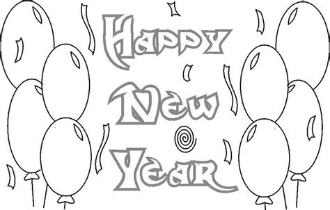 new year pictures to print happy new year coloring printable page