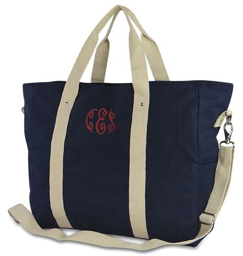 Marina Syari Navy Pink By Wn canvas getaway tote bag monogram personalized