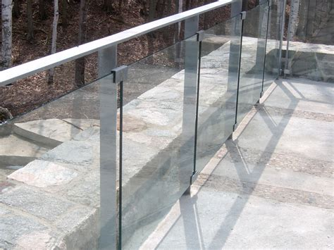 glass modern railings railing stairs and kitchen design