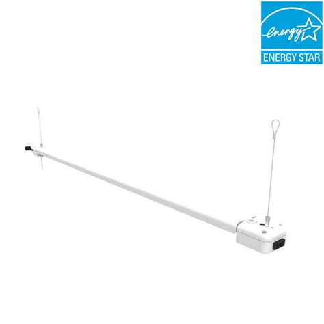 commercial electric shop light commercial electric 4 ft 1 l 30 watt white integrated
