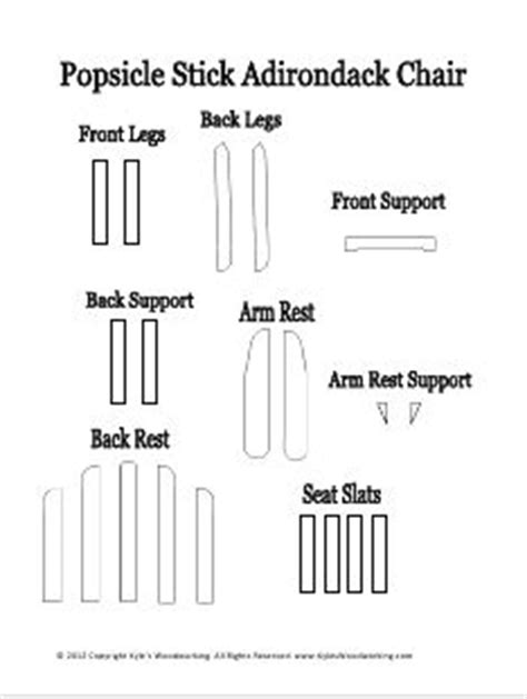 gumpaste adirondack chair template how to make a popsicle stick mini adirondack chair