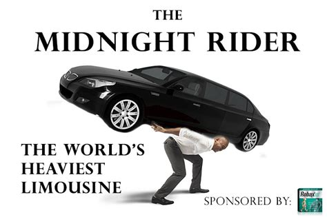 Limousines In The World by The World S Heaviest Limo The Midnight Rider