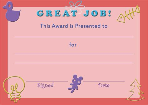 child certificate template award templates word wine label size template
