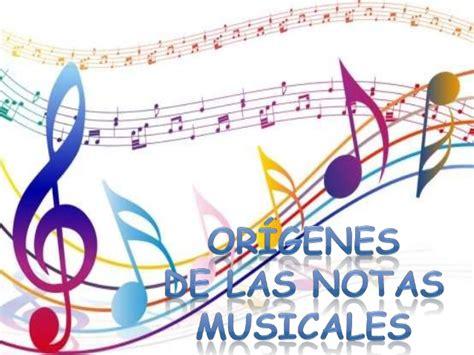 imagenes musicales concepto origen de las notas musicales