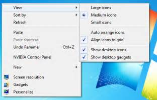 How To Small The Desktop Icon Windows 7 Changing Desktop Icons Size Technet Articles