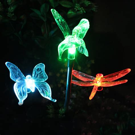 Moonrays Solar Powered Led Color Changing Outdoor Crackle Solar Lights That Change Color