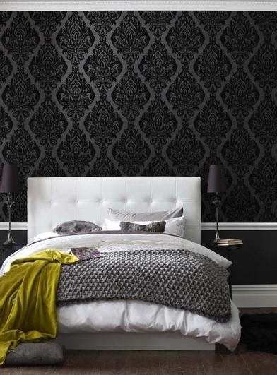 damask wallpaper bedroom photos and video black damask wallpaper contemporary bedroom