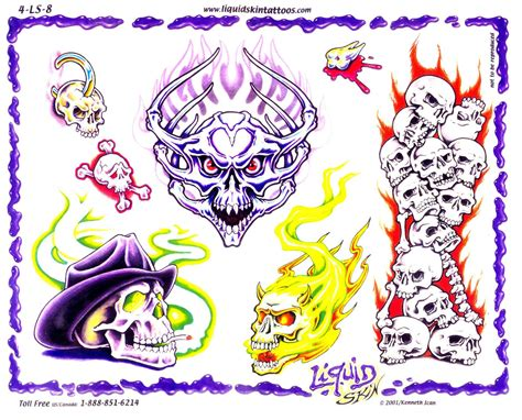 skull tattoo flash designs skull tattoos