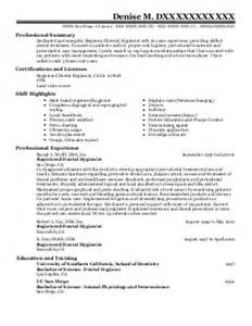 registered dental hygienist resume exle dr louvenia a