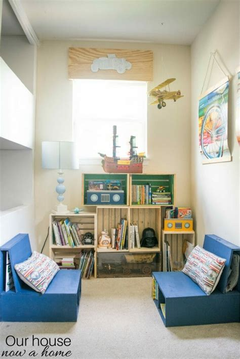 diy wooden crate bookshelf making  perfect kids