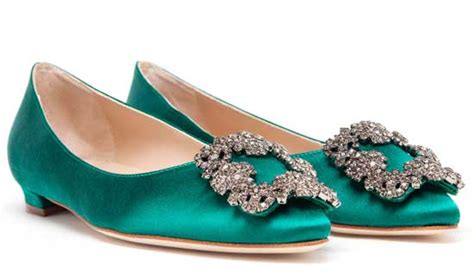 Sepatu M4nolo Blahnik Green Emerald green manolo blahnik shoes
