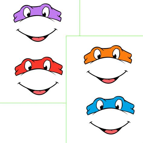 printable leonardo mask masks clipart teenage mutant ninja turtle pencil and in