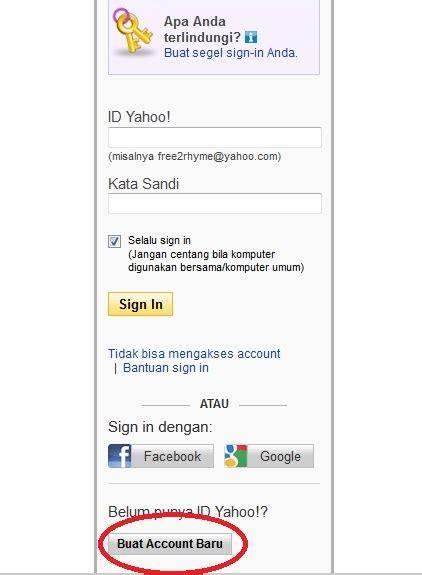 langkah langkah membuat email yahoo ppt cara membuat email di yahoo cuma belajar