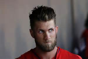 bryce hair style what do you think of bryce harper s new haircut and why