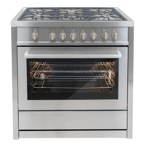 Oven Cosmos cosmo 36 in 3 8 cu ft gas range in stainless steel with