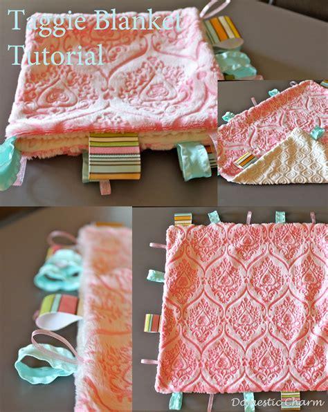 diy blanket domestic charm baby taggie blanket tutorial