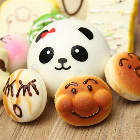 Squishy Jumbo Wortel 12st random kawaii squishy panda bun toast multi donuts
