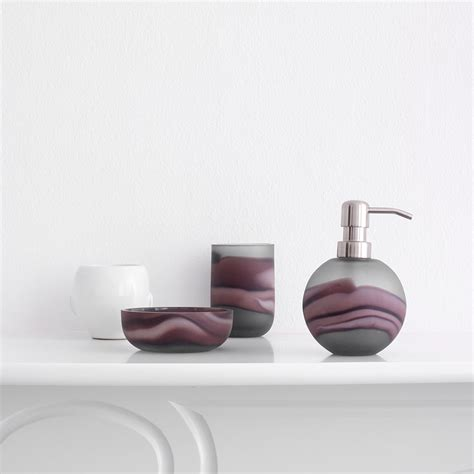 Aubergine Bathroom Accessories Buy Aquanova Tibor Toothbrush Holder Aubergine Amara