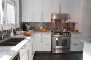 cement tiles backsplash contemporary kitchen