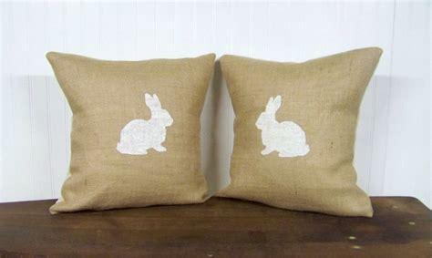 Rabbit Pillow by Bunny Rabbit Pillow Cover Silhouette By Jenniferhelenehome