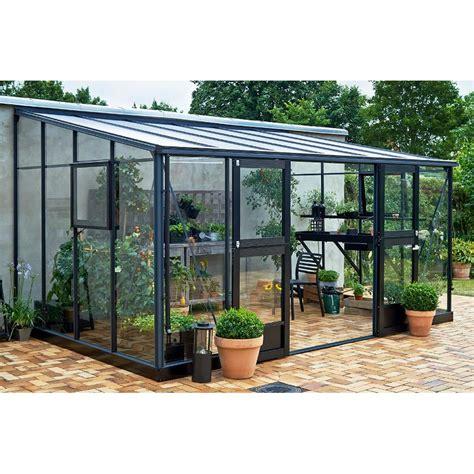 serre verande serre veranda adoss 233 e 12 9m 178 aluminium laqu 233 anthracite et