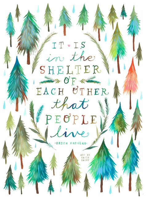 shelter of each other print watercolor от thewheatfield inspirational quotes