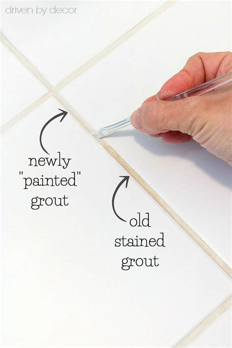 How To Get Bathroom Grout White Again by The Secret To Getting Stained Tile Grout White Again